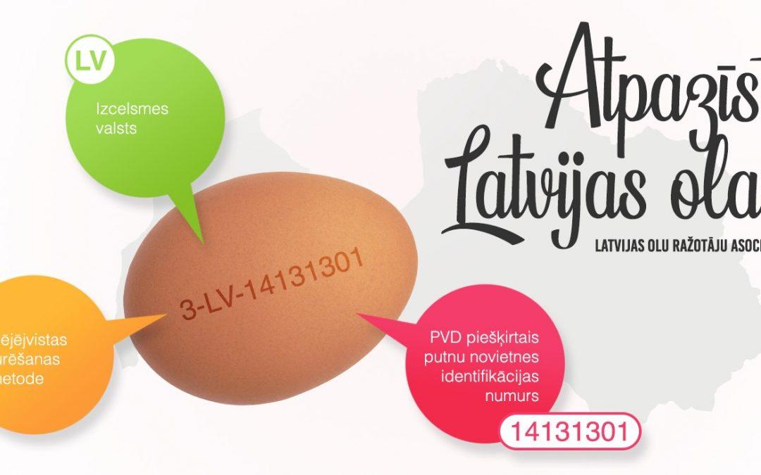 Atpazīsti Latvijas olas
